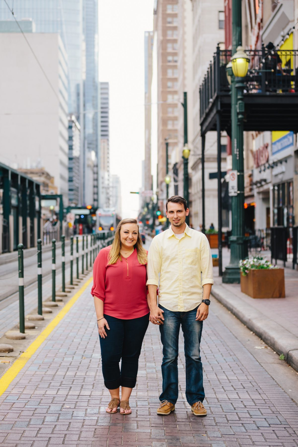 Mikayla and Shalin | Downtown and EaDo Houston Engagement